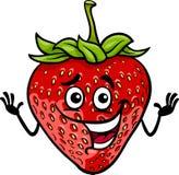 Illustrazione divertente del fumetto della frutta della fragola Fotografie Stock Libere da Diritti