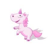 Illustrazione divertente dell'unicorno del fumetto illustrazione vettoriale