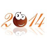 Illustrazione divertente di vettore della zucca 2014 Fotografia Stock
