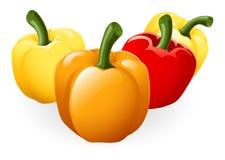 Illustrazione dolce del peperone dolce Fotografie Stock