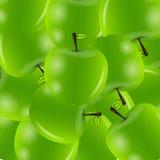 Illustrazione dolce di vettore della priorità bassa delle mele Fotografie Stock Libere da Diritti