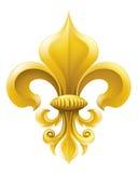 Illustrazione dorata del Fleur-de-lis illustrazione di stock