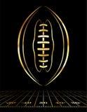 Illustrazione dorata dell'icona di football americano Fotografia Stock Libera da Diritti