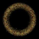 Illustrazione dorata di vettore del fondo dell'estratto del raggio del cerchio Fotografia Stock Libera da Diritti