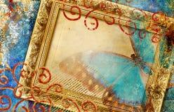 illustrazione Dorato-blu illustrazione di stock