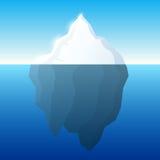 Illustrazione e fondo dell'iceberg Iceberg sul concetto dell'acqua Vettore Fotografia Stock