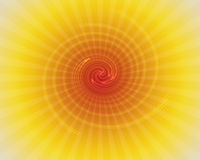 Illustrazione e sprazzo di sole a spirale Fotografie Stock