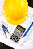 Illustrazione e strumenti di costruzione Immagini Stock