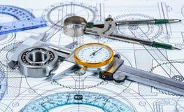 Illustrazione e strumenti tecnici Immagine Stock