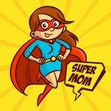 Illustrazione eccellente di vettore della famiglia della mamma dei supereroi royalty illustrazione gratis