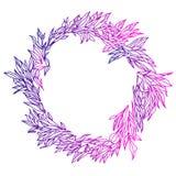Illustrazione elegante e sveglia Pagina di nozze dei verdi e dei rami Modello floreale del disegno grafico Tessuto di tessuto illustrazione vettoriale