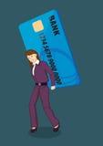 Illustrazione enorme di vettore di debito della carta di credito illustrazione vettoriale