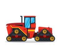 Illustrazione enorme moderna del veicolo dell'azienda agricola di agricoltura del trattore della pista royalty illustrazione gratis