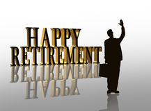 Illustrazione felice 3D di pensione Immagine Stock