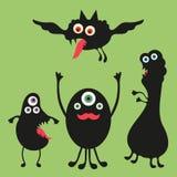 Illustrazione felice dei mostri Insieme 2 Fotografia Stock Libera da Diritti