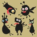 Illustrazione felice dei mostri Insieme 8 Fotografia Stock Libera da Diritti
