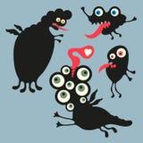 Illustrazione felice dei mostri Insieme 3 Fotografia Stock Libera da Diritti