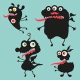 Illustrazione felice dei mostri Insieme 11 Fotografia Stock