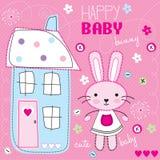 Illustrazione felice del coniglietto del bambino Fotografia Stock