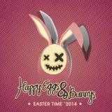 Illustrazione felice del coniglietto & delle uova Fotografie Stock