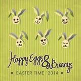 Illustrazione felice del coniglietto & delle uova Fotografia Stock