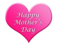 Illustrazione felice del cuore di giorno della madre Fotografia Stock Libera da Diritti