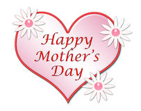 Illustrazione felice del cuore di giorno della madre Immagini Stock
