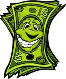 Illustrazione felice del fumetto dei soldi facili Fotografie Stock Libere da Diritti