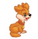 Illustrazione felice del fumetto del cucciolo Fotografia Stock