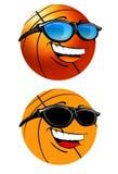 Illustrazione felice del fumetto di pallacanestro Immagini Stock