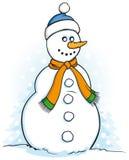 Illustrazione felice del pupazzo di neve Fotografia Stock Libera da Diritti