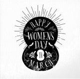 Illustrazione felice dell'annata di giorno delle donne Immagine Stock