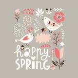 Illustrazione felice della primavera Immagini Stock
