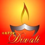 Illustrazione felice di arte di Diwali Fotografia Stock Libera da Diritti