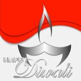 Illustrazione felice di arte di vettore di Diwali Fotografie Stock Libere da Diritti