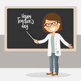Illustrazione felice di giorno degli insegnanti Immagine Stock