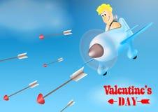 Illustrazione felice di giorno del ` s del biglietto di S. Valentino illustrazione di stock