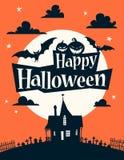 Illustrazione felice di Halloween illustrazione vettoriale