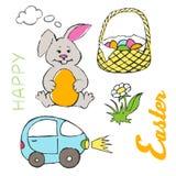 Illustrazione felice di Pasqua Fotografie Stock Libere da Diritti