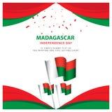 Illustrazione felice di progettazione del modello del manifesto di celebrazione di festa dell'indipendenza del Madagascar royalty illustrazione gratis