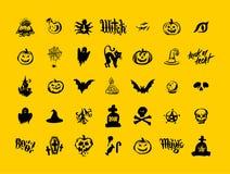 Illustrazione felice di vettore del fondo della zucca della strega di Halloween Progettazione piana di Halloween illustrazione vettoriale