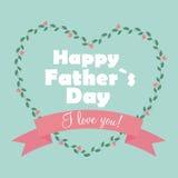Illustrazione felice di vettore di Day Poster Card del padre Immagine Stock
