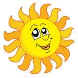 Illustrazione felice di vettore di Sun Fotografia Stock Libera da Diritti