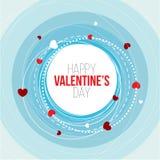 Illustrazione felice di vettore di Valentine Day della cartolina d'auguri ti amo Progettazione del modello Aletta di filatoio o i illustrazione di stock