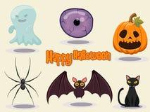 Illustrazione felice di vettore di progettazione dell'icona di Halloween Fotografia Stock Libera da Diritti