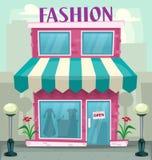 Illustrazione femminile del negozio di modo della donna del fumetto di vettore illustrazione vettoriale