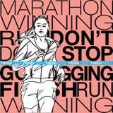 Illustrazione femminile di schizzo del corridore Immagine Stock Libera da Diritti