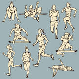 Illustrazione femminile di sport del corridore Immagine Stock