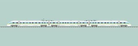 Illustrazione ferroviaria precisa di vettore isolata treno ad alta velocità piano illustrazione di stock