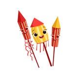 Illustrazione festiva sorridente felice dell'oggetto della festa di compleanno dei bambini dei fuochi d'artificio del carattere G Fotografia Stock